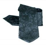Zsorzsett szatén szett - Fekete mintás