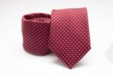 Prémium selyem nyakkendő - Piros pöttyös
