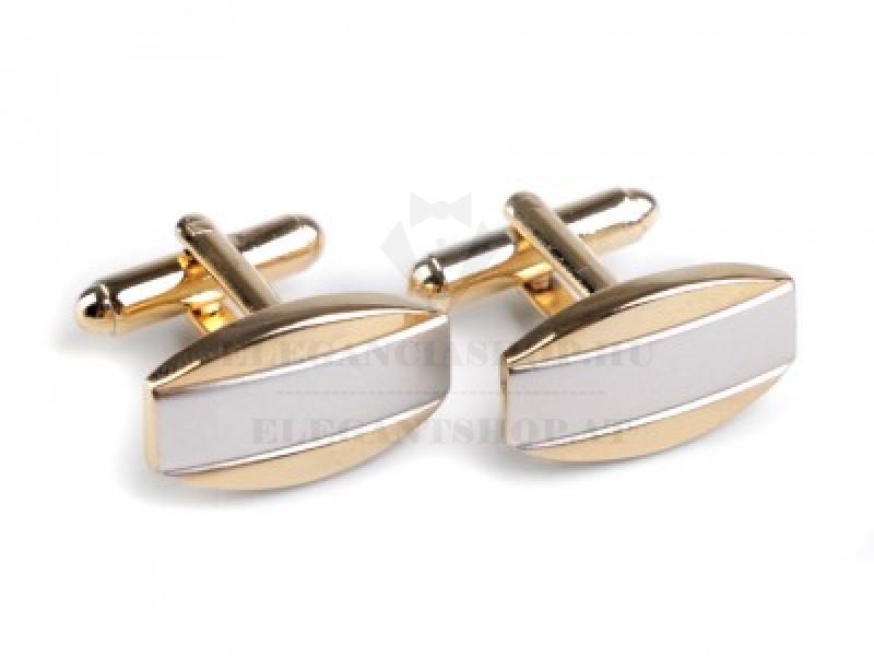 Mandzsetta gomb díszdobozban-Arany-ezüst