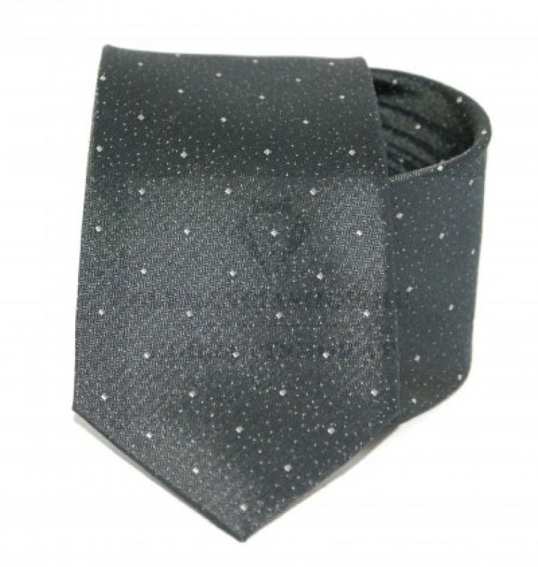 Exkluzív selyem nyakkendő - Szürke pöttyös
