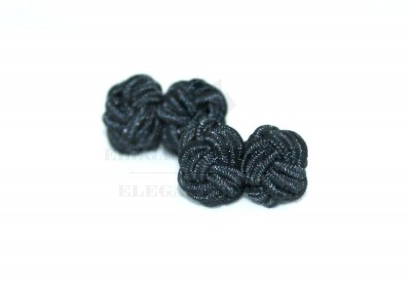 Gumis mandzsetta gomb - Fekete