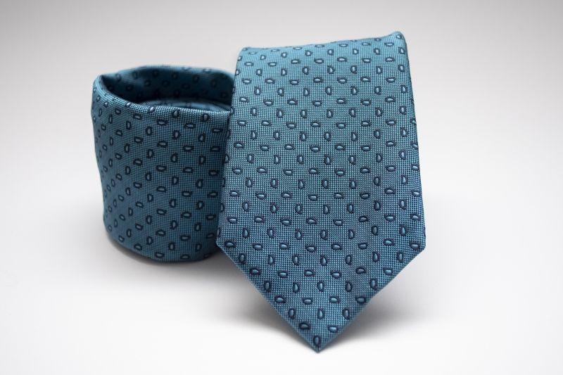Prémium nyakkendő - Acélkék mintás
