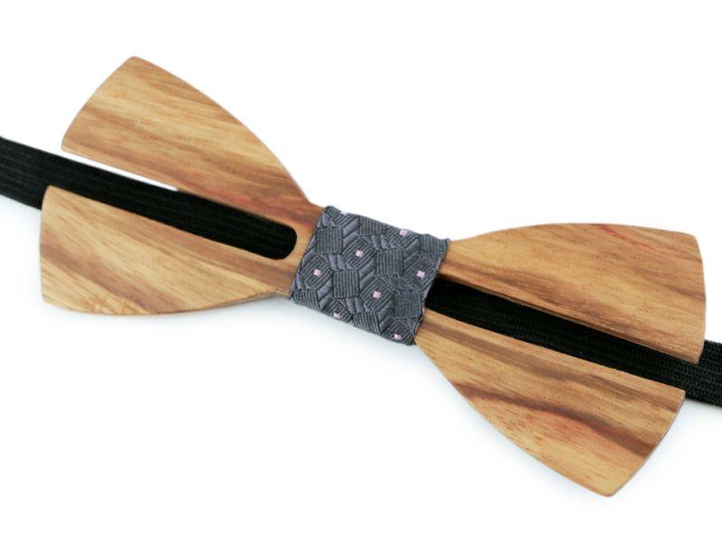Fa csokornyakkendő - Barna