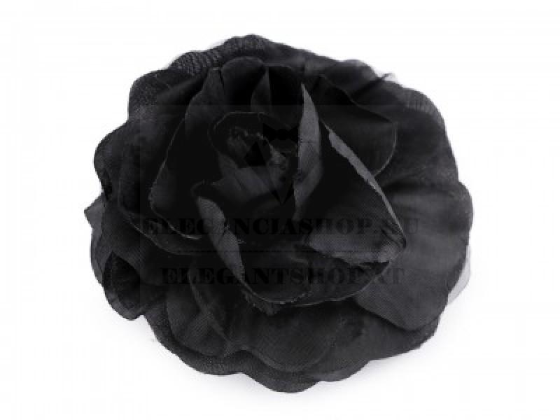Rózsa kitűző - Fekete