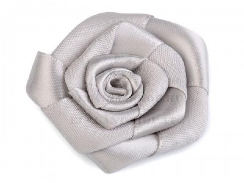 Rózsa kitűző - Ezüst