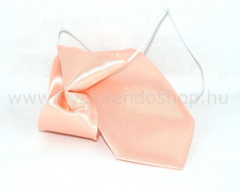Gumis szatén gyereknyakkendő (mini)- Púder