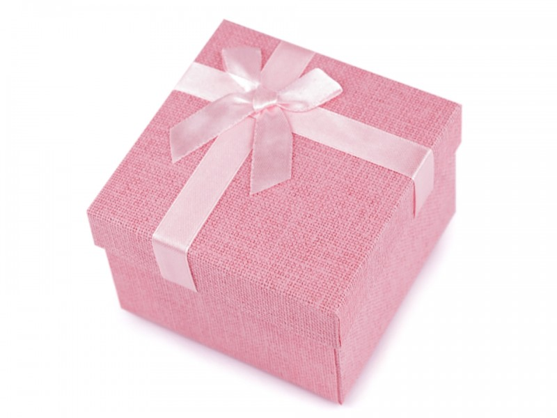 Díszdoboz masnis - Rózsaszín
