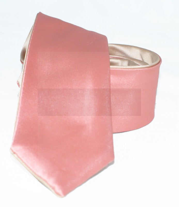 Goldenland 2in1 slim nyakkendő - Lazac-arany Egyszínű nyakkendők
