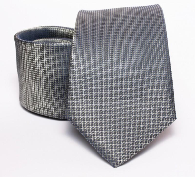 Prémium nyakkendő - Szürke mintás Aprómintás nyakkendő