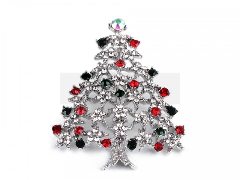 Bross csiszolt kövek karácsony fa Kitűzők, Brossok