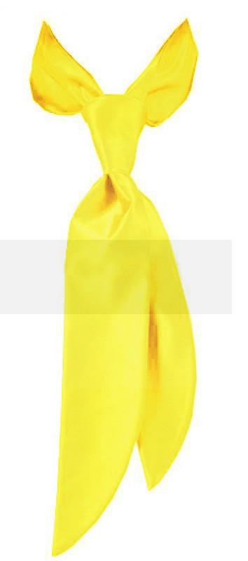 Zsorzsett női nyakkendő - Citromsárga