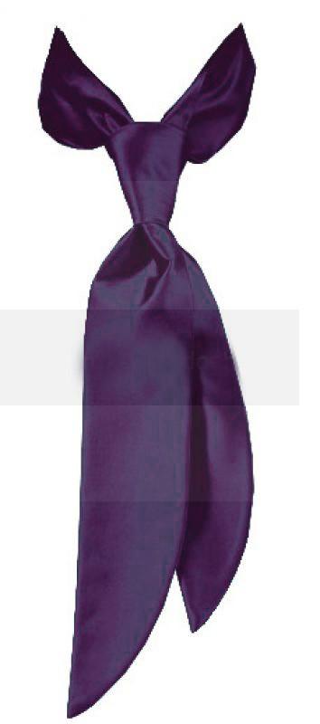 Zsorzsett női nyakkendő - Sötétlila Női nyakkendők, csokornyakkendő