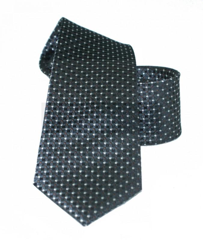 Vincitore slim selyem nyakkendő - Fekete pöttyös Aprómintás nyakkendő