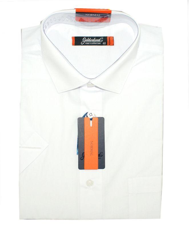 Goldenland rövidujjú ing - Fehér Normál fazon