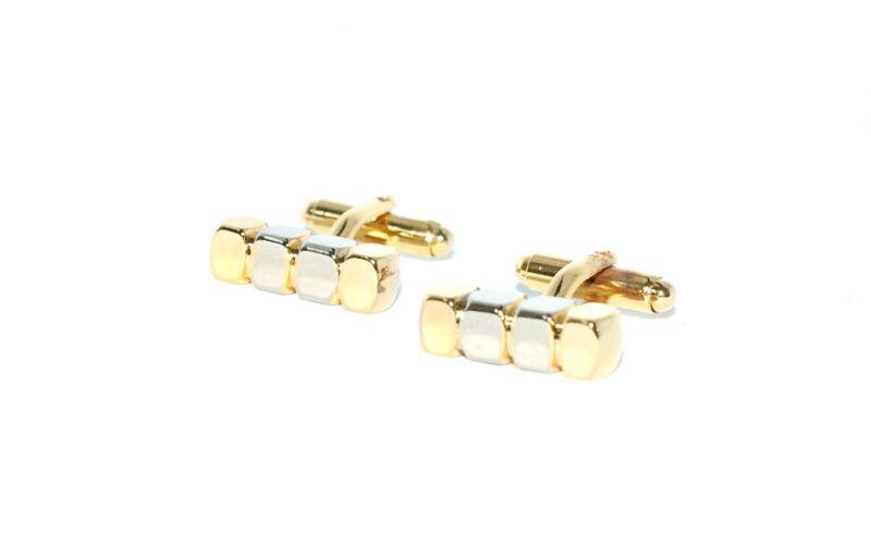 Mandzsetta gomb - Arany-ezüst