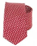 Goldenland slim nyakkendő - Meggypiros mintás Aprómintás nyakkendők