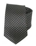 Exkluzív selyem nyakkendő - Fekete mintás Aprómintás nyakkendők