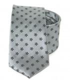 Goldenland slim nyakkendő - Szürke mintás