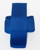 Prémium kötött nyakkendő - Királykék