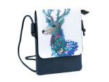 Kis női táska grafikával - 5 színben