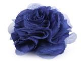 Rózsa kitűző - Királykék