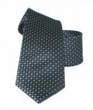 Vincitore slim selyem nyakkendő - Fekete pöttyös