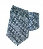 Vincitore slim selyem nyakkendő - Szürke mintás