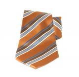 Saint Michael selyem nyakkendő - Aranybarna csíkos