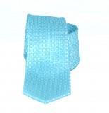 Goldenland slim nyakkendő - Tűkízkék mintás