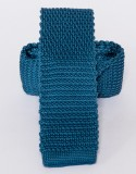 Prémium kötött nyakkendő - Acélkék Egyszínű nyakkendők