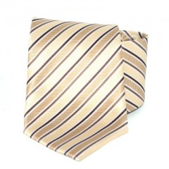 Goldenland nyakkendő - Barna-drapp csíkos