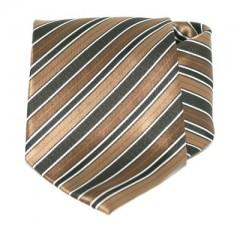 Goldenland nyakkendő - Barna-fekete csíkos Akciós