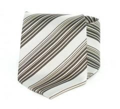 Goldenland nyakkendő - Világosszürke-barna csíkos