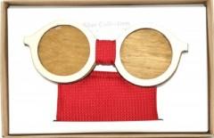 Fa csokornyakkendő szett - Szemüveg Csokornyakkendők
