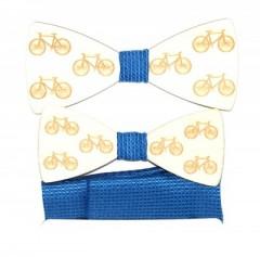 Fa apa-fia csokornyakkendő szett - Bicikli Csokornyakkendők