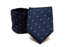 Prémium nyakkendő - Kék-fehér pöttyös