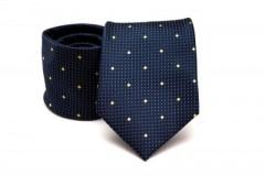 Prémium nyakkendő - Kék-sárga pöttyös
