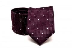 Prémium nyakkendő - Padlizsán pöttyös