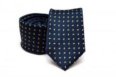 Prémium nyakkendő - Kék-sárga mintás
