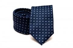 Prémium nyakkendő - Kék-fehér mintás