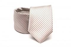 Prémium nyakkendő - Ecru pöttyös
