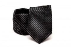 Prémium nyakkendő - Fekete pöttyös