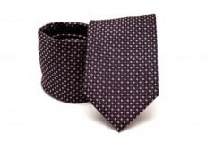 Prémium nyakkendő -  Fekete-piros aprópöttyös Aprómintás nyakkendők