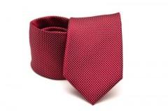 Prémium nyakkendő - Meggybordó pöttyös Aprómintás nyakkendők