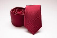 Prémium slim nyakkendő - Meggybordó