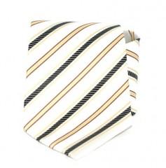 Goldenland nyakkendő -Ecru-fekete csíkos