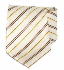 Goldenland nyakkendő - Drapp-sárga csíkos