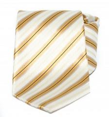 Goldenland nyakkendő - Ecru-arany csíkos