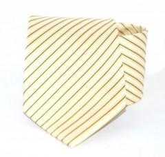Goldenland nyakkendő - Drapp-arany csíkos