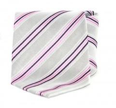 Goldenland nyakkendő - Ezüst-rózsaszín csíkos